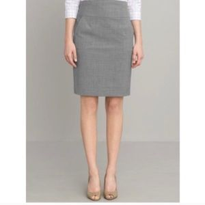 Banana republic light grey pencil skirt